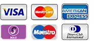 We accept most maor credit cards